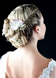 Plated bridal hairstyles at BHP Hairdressing Salon in Leeds