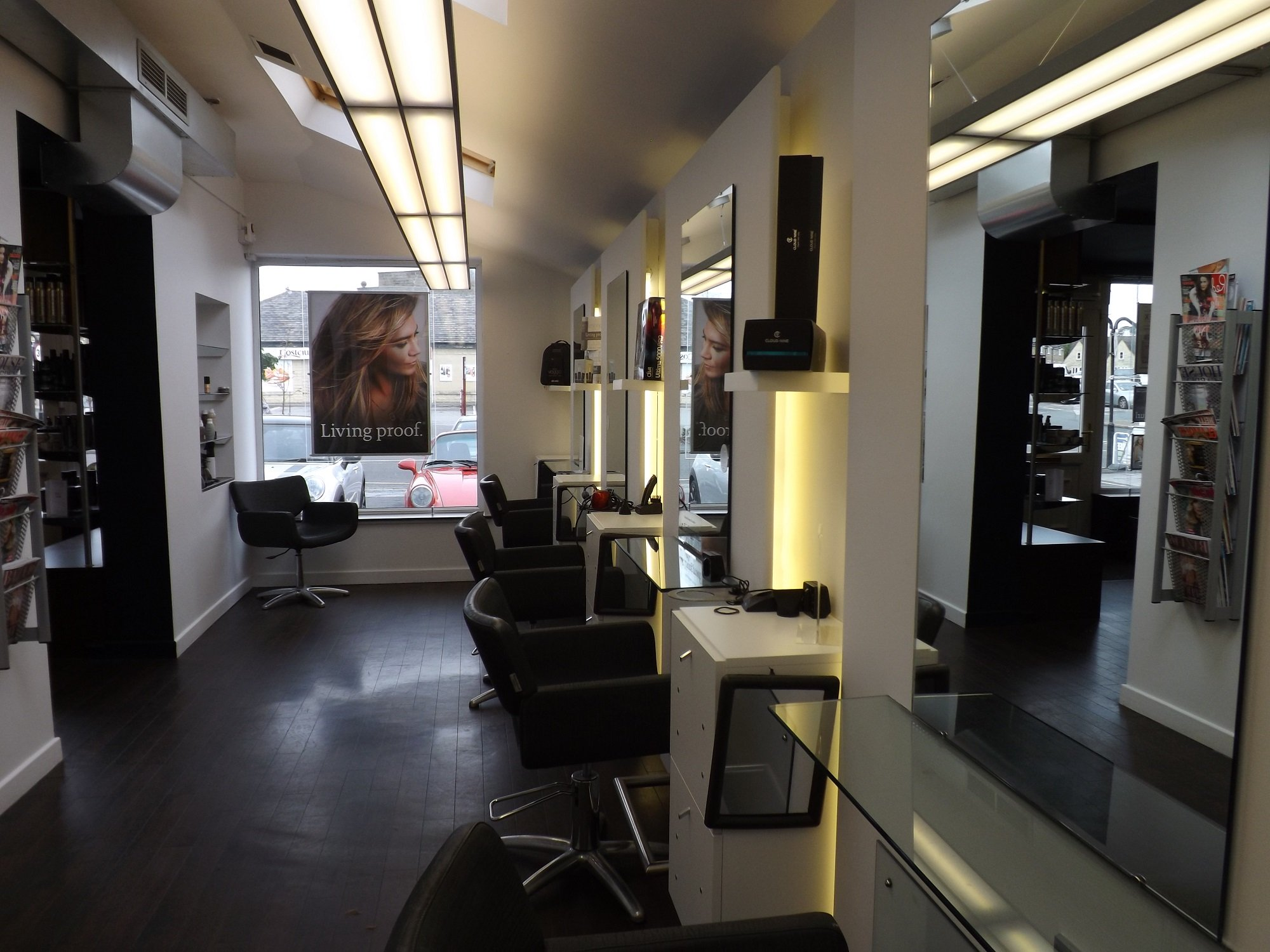 inside bhp hair salon in guiseley, leeds