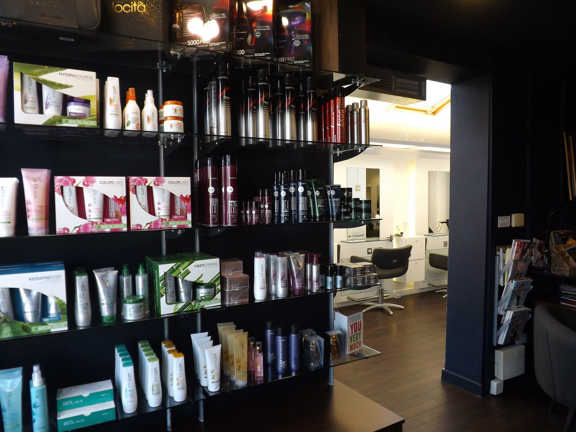 products for sale at bhp hair salon in guiseley leeds