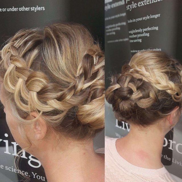 Beautiful wedding hair up done by our senior stylist Abbiejoe!hellip