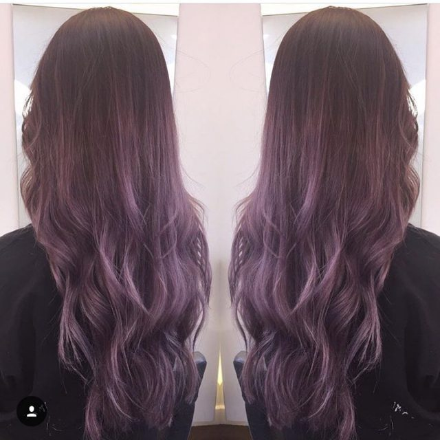 Amazing deep purple ombr on our assistant Emily ombr hair